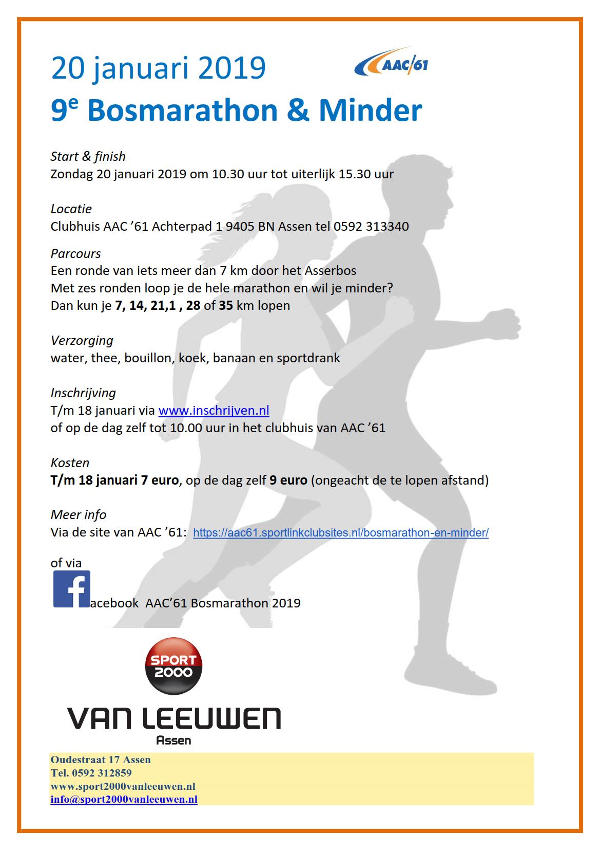 9e Bosmarathon & Minder - flyer