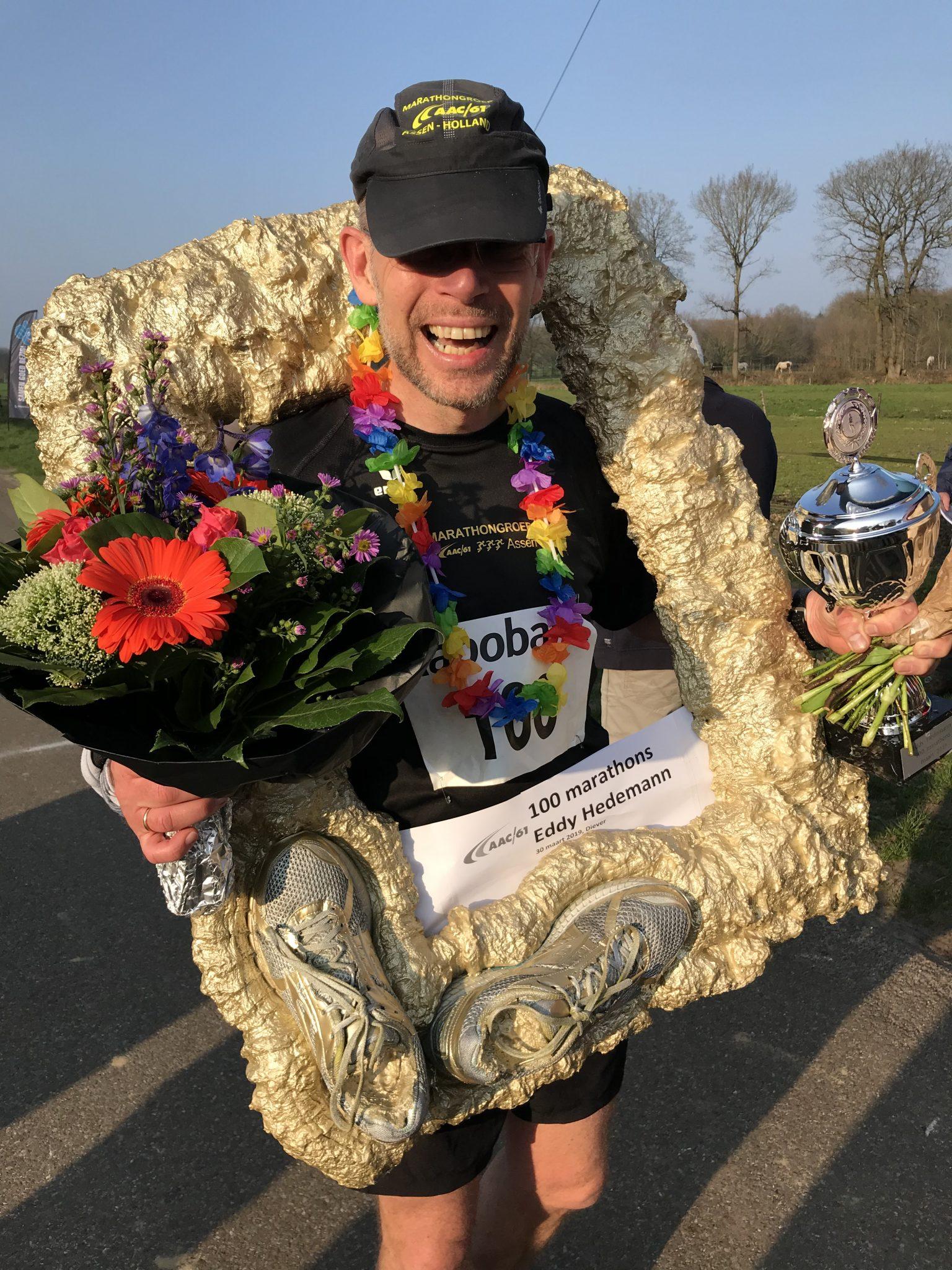 Eddy Hedemann loopt 100 marathons